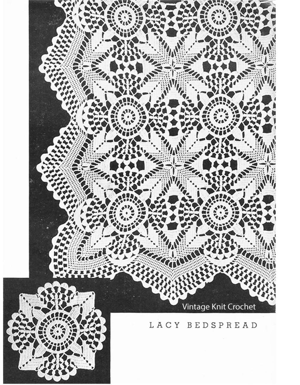 Crochet Lace Bedspread Pattern No 620