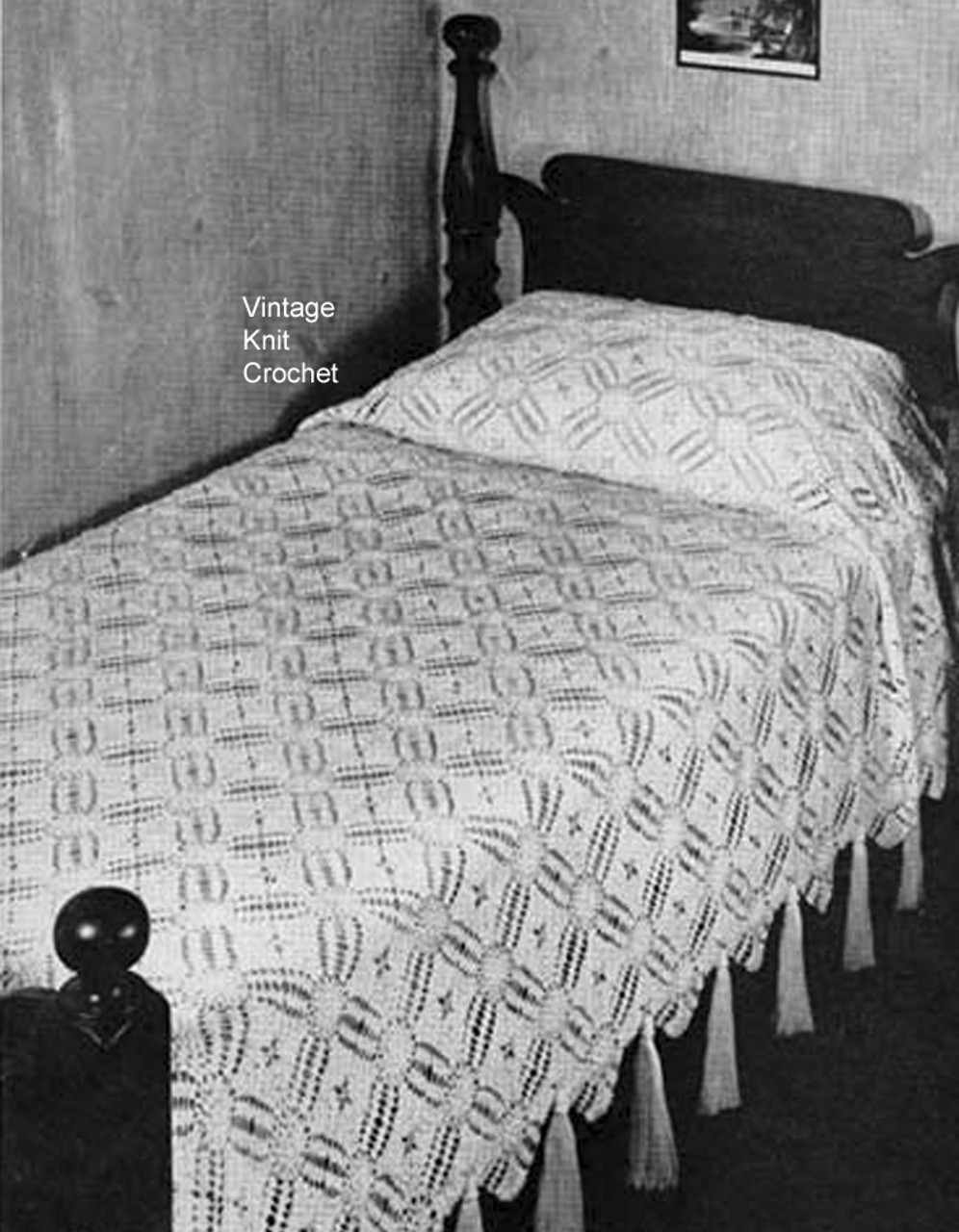 Connecticut Yankee Crochet Bedspread Pattern