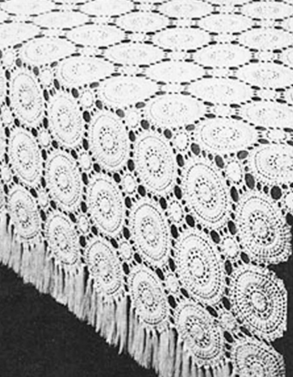 Crochet Circles Bedspread Pattern