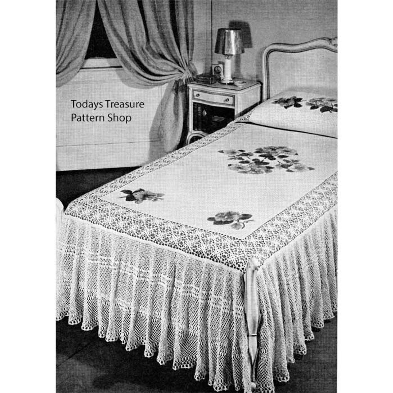 Crocheted Lace Ruffled Bedspread Pattern