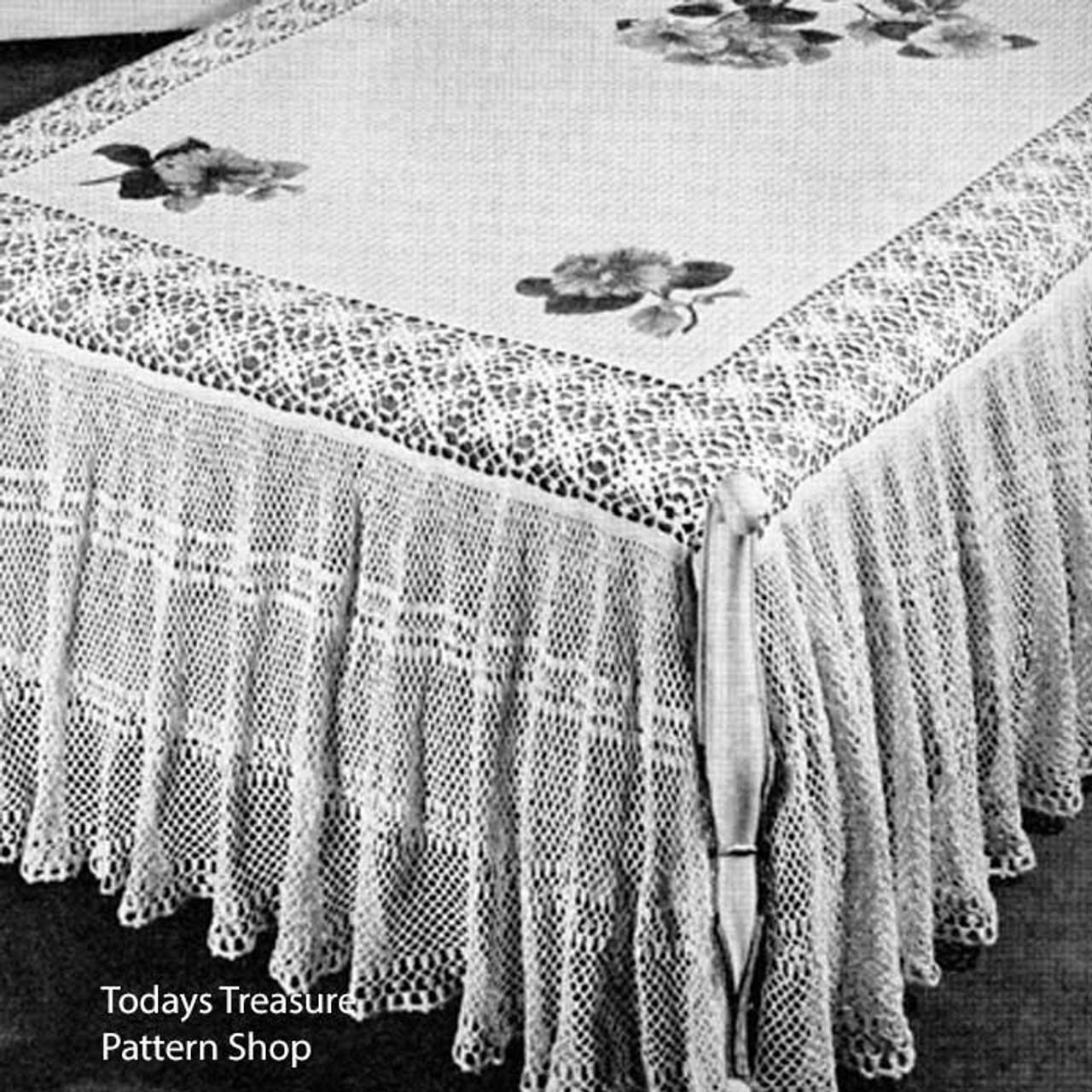 Ruffled Lace Crocheted Bedspread Pattern