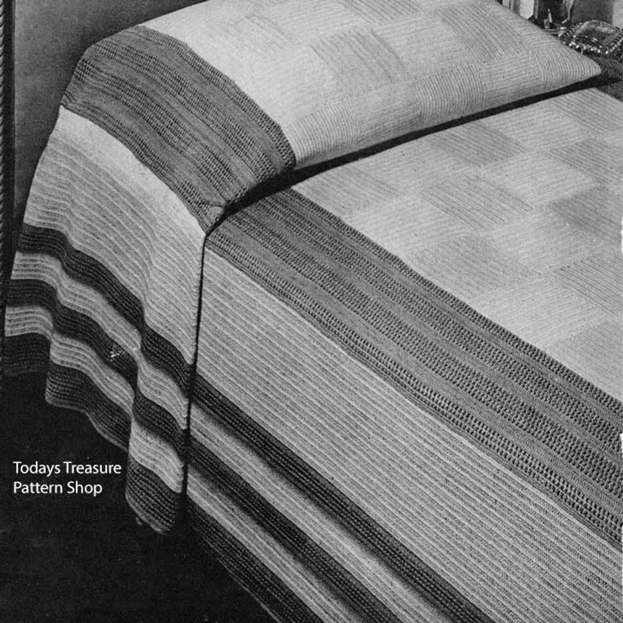 Crochet Bedspread Pattern, Manhattan