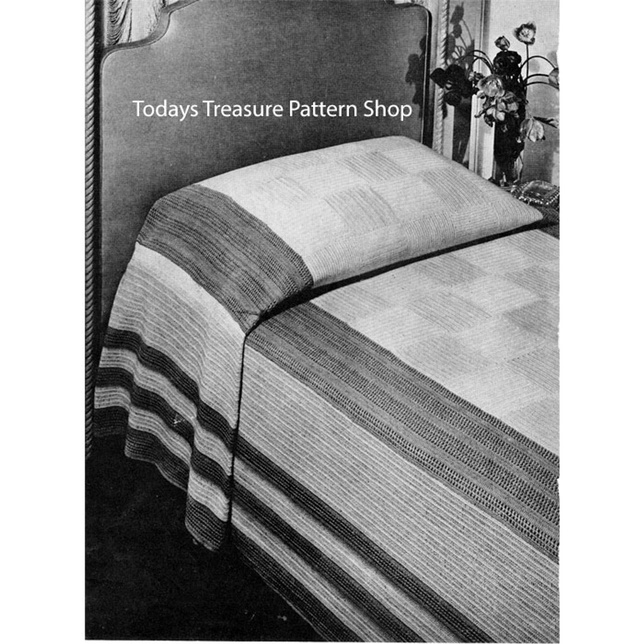Manhattan vintage crochet bedspread pattern