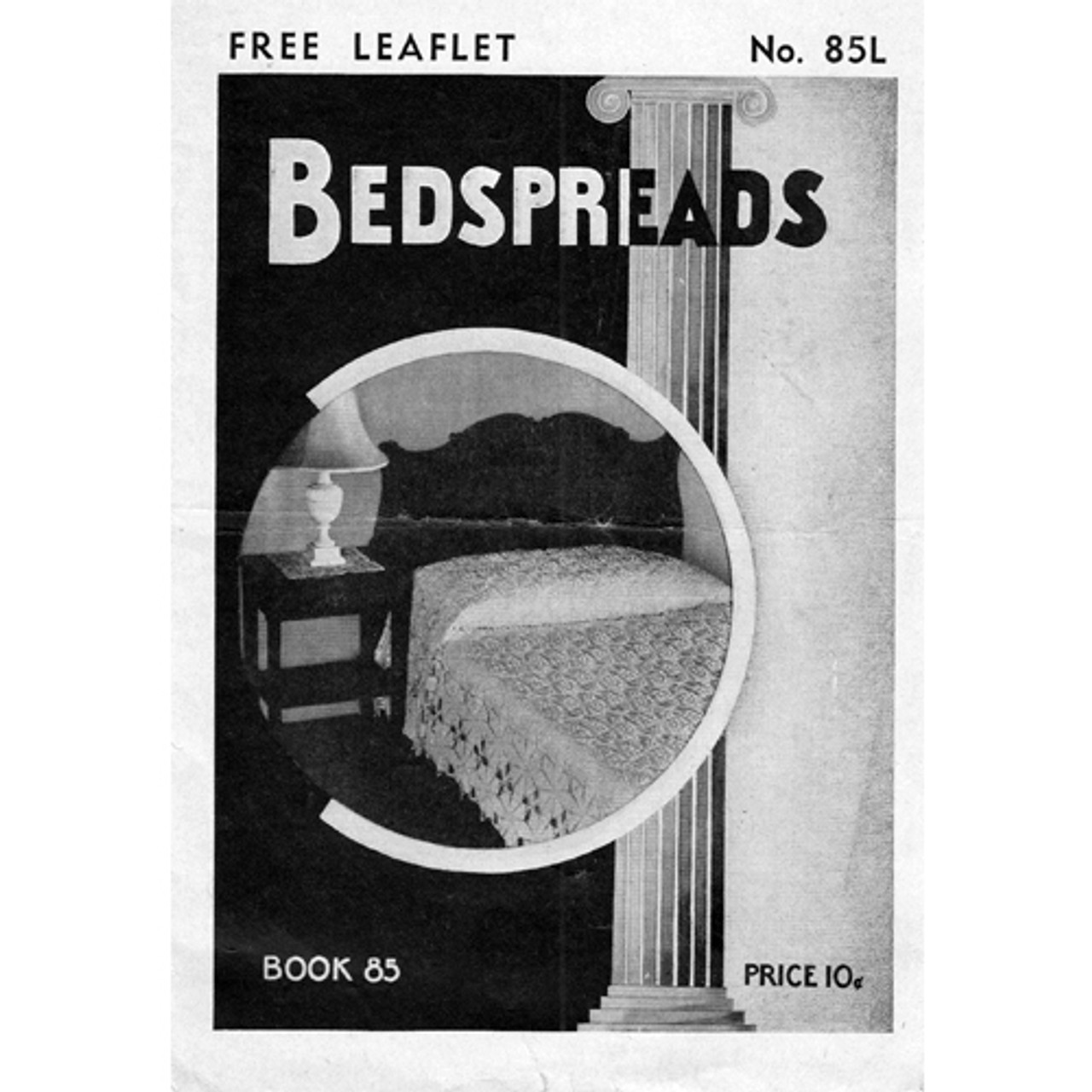 Vintage Irish Popcorn Crochet Bedspread Pattern Leaflet 85-l