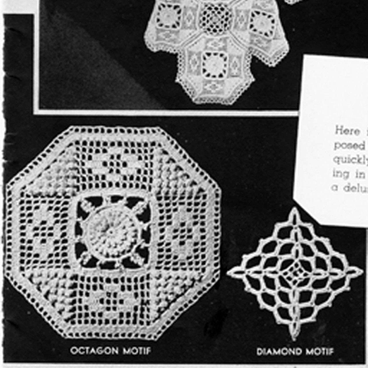 Octagon Crocheted Medallion Pattern for Bedspreads