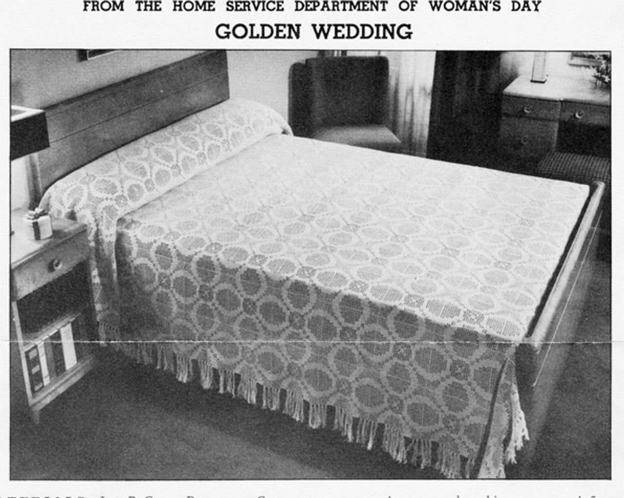 Crocheted Golden Wedding Bedspread Pattern