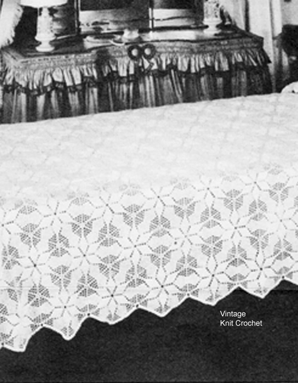 Crochet Bedspread Pattern, Star Medallons No 6401