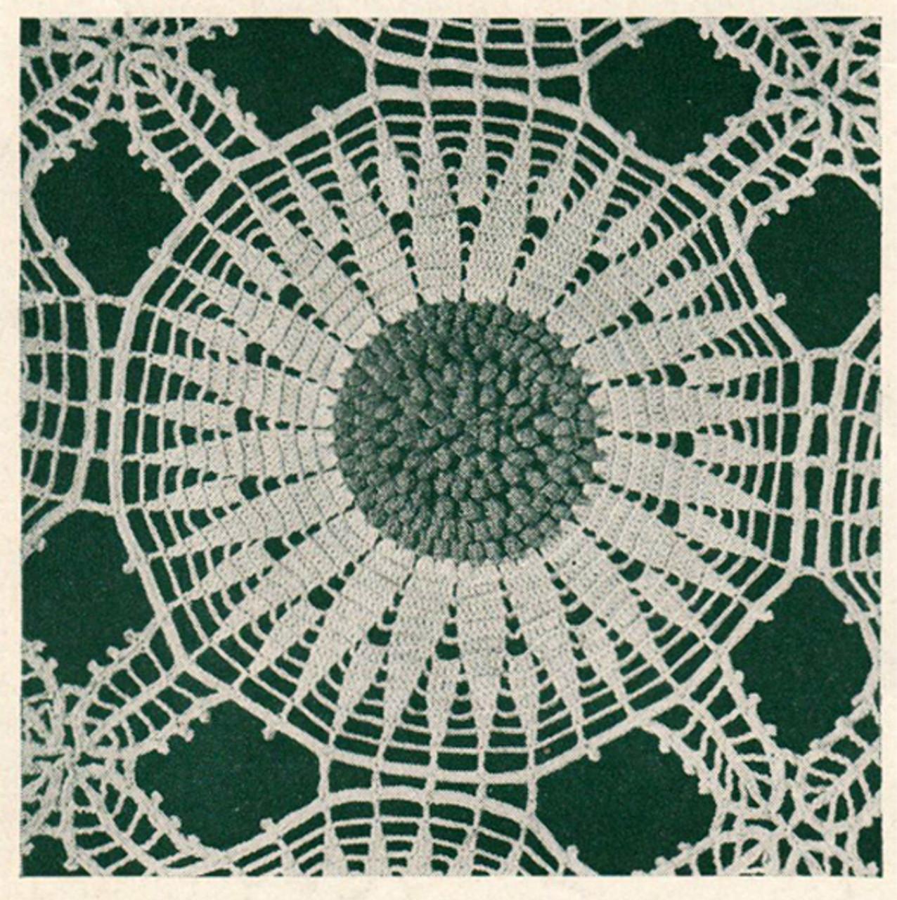 Crochet Sunflower Medallion Pattern for Bedspreads