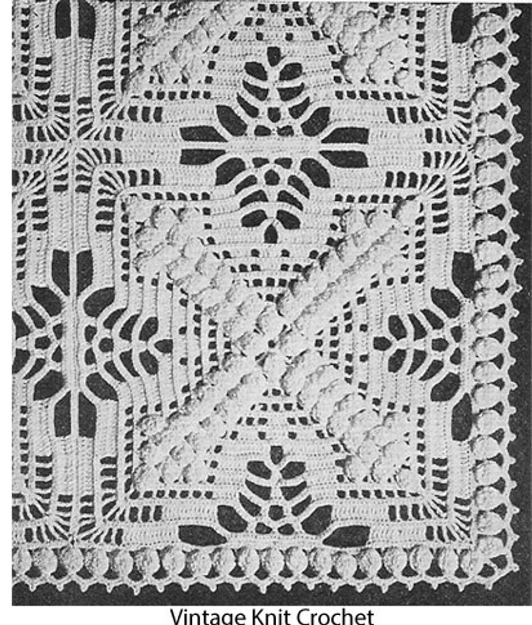 Large crochet X Block Pattern