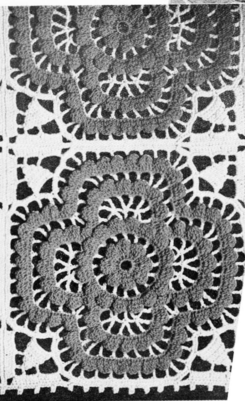 Rosette Crochet Square Pattern for bedspreads