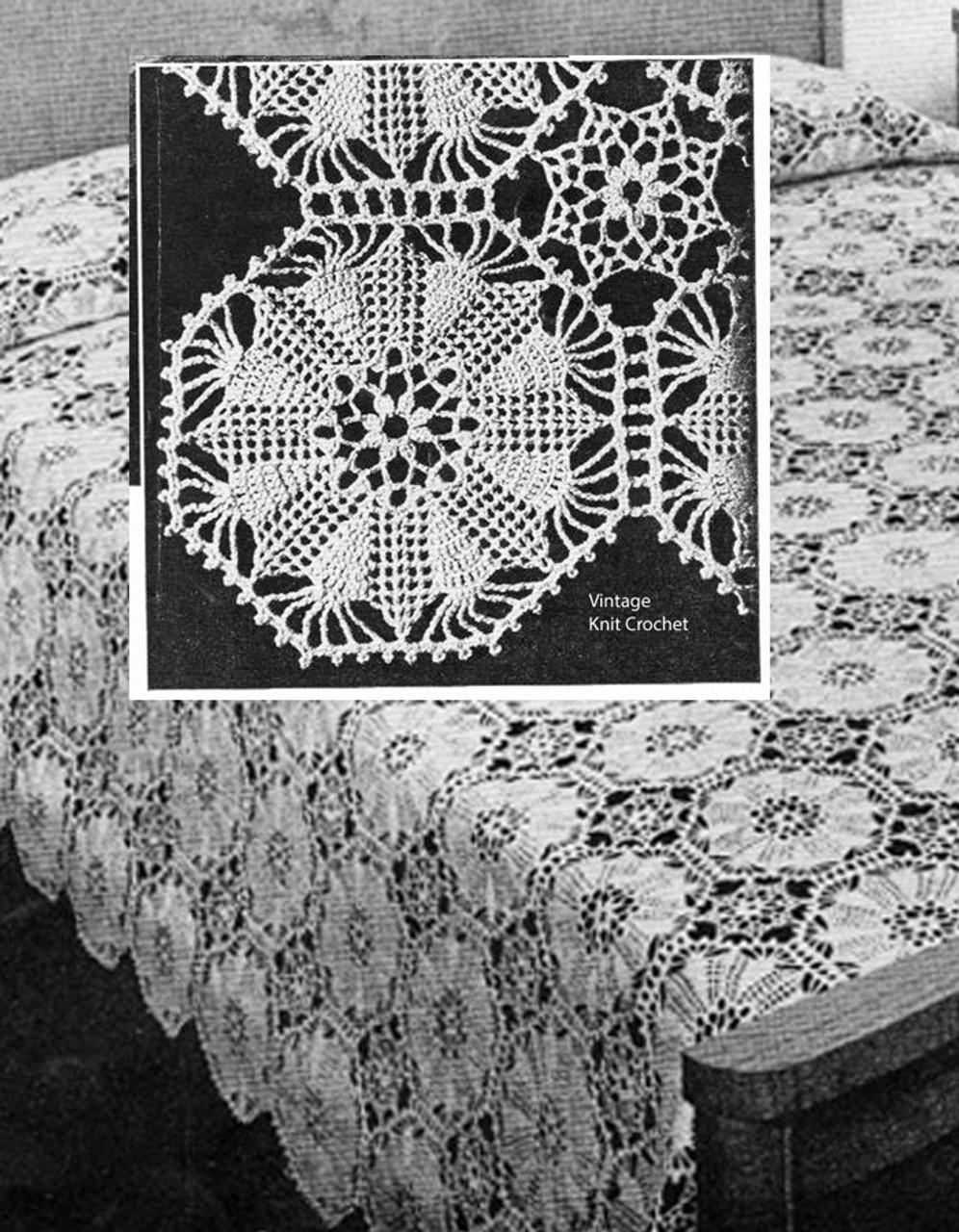 Eight Point Star Crochet Bedspread Pattern