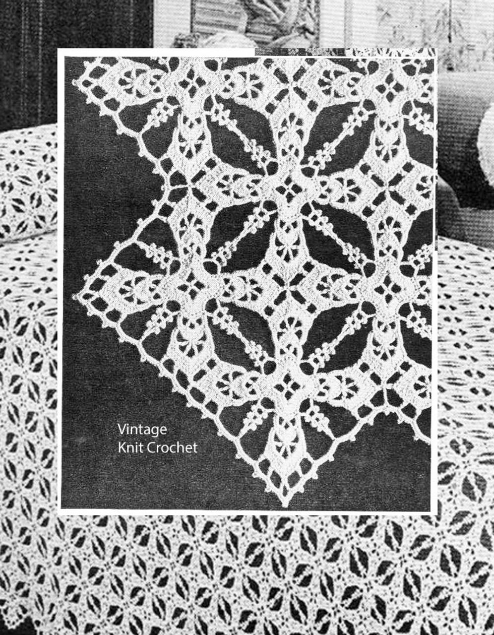 Crochet Bedspread pattern, Iris Square
