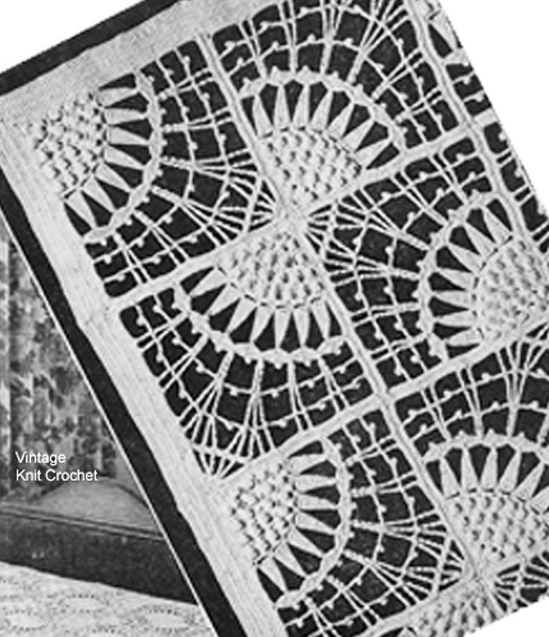 Butterfly Bows Crochet Block Illustration