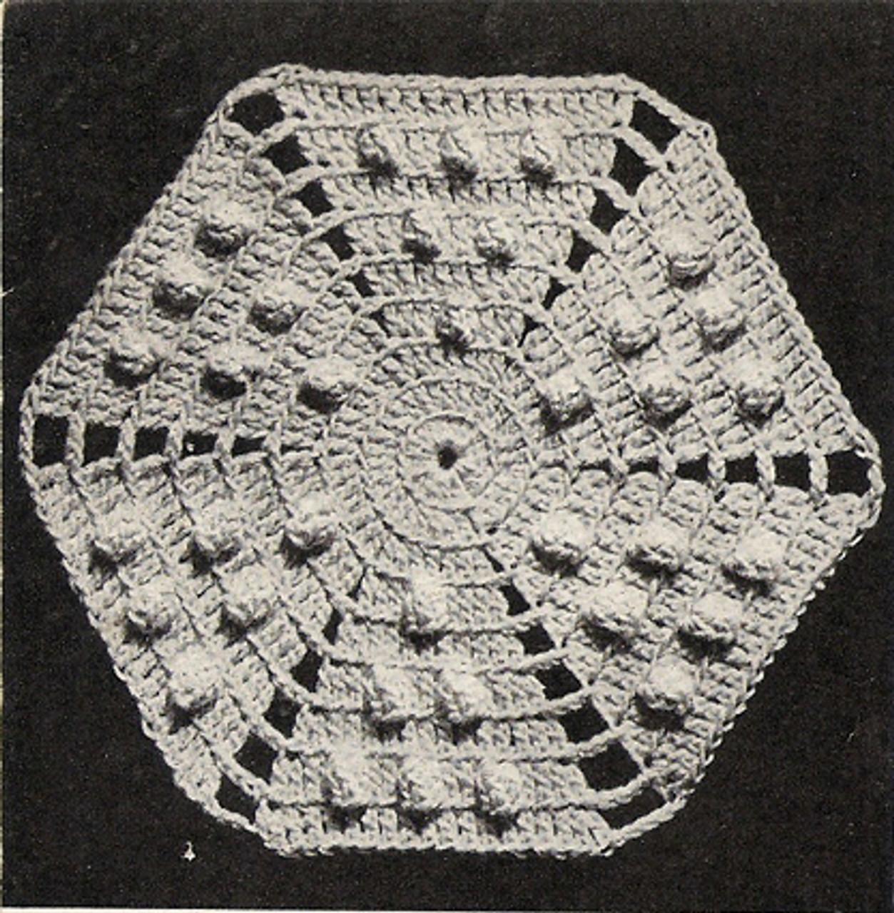 Popcorn Octagon Medallion Crochet Pattern for Bedspreads