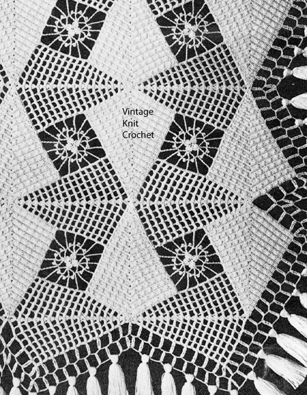 Vintage Crochet Spearhead Bedspread Pattern No 806