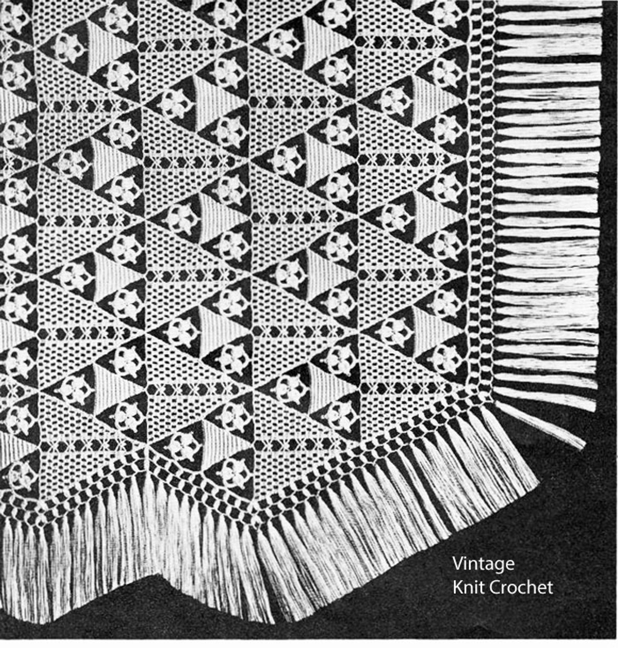 Triangle Medallion Crochet Bedspread Pattern