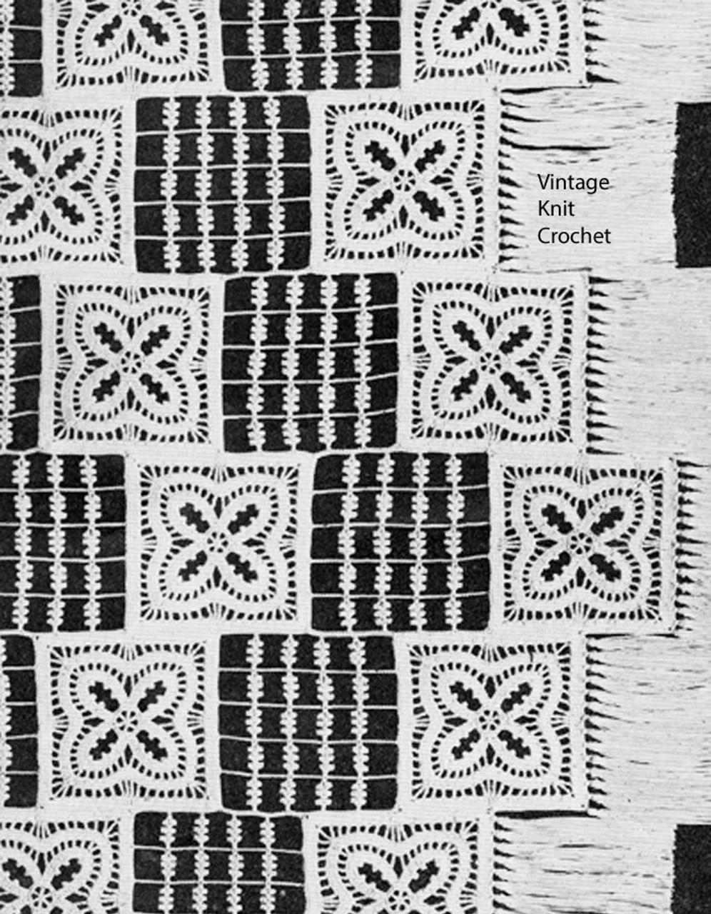 Vintage Lily Mills Crochet Bedspread Pattern