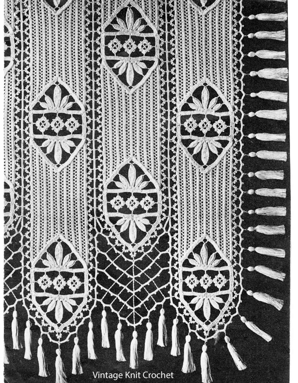 Vintage Lace Panel Crochet Bedspread Pattern