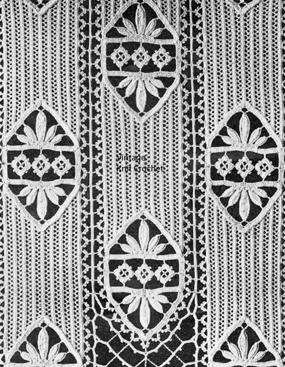 Imperial Stripes Crochet Bedspread Pattern