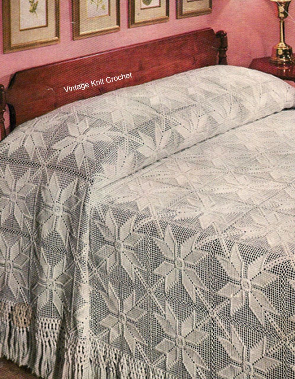 Crochet Star Motif Bedspread Pattern