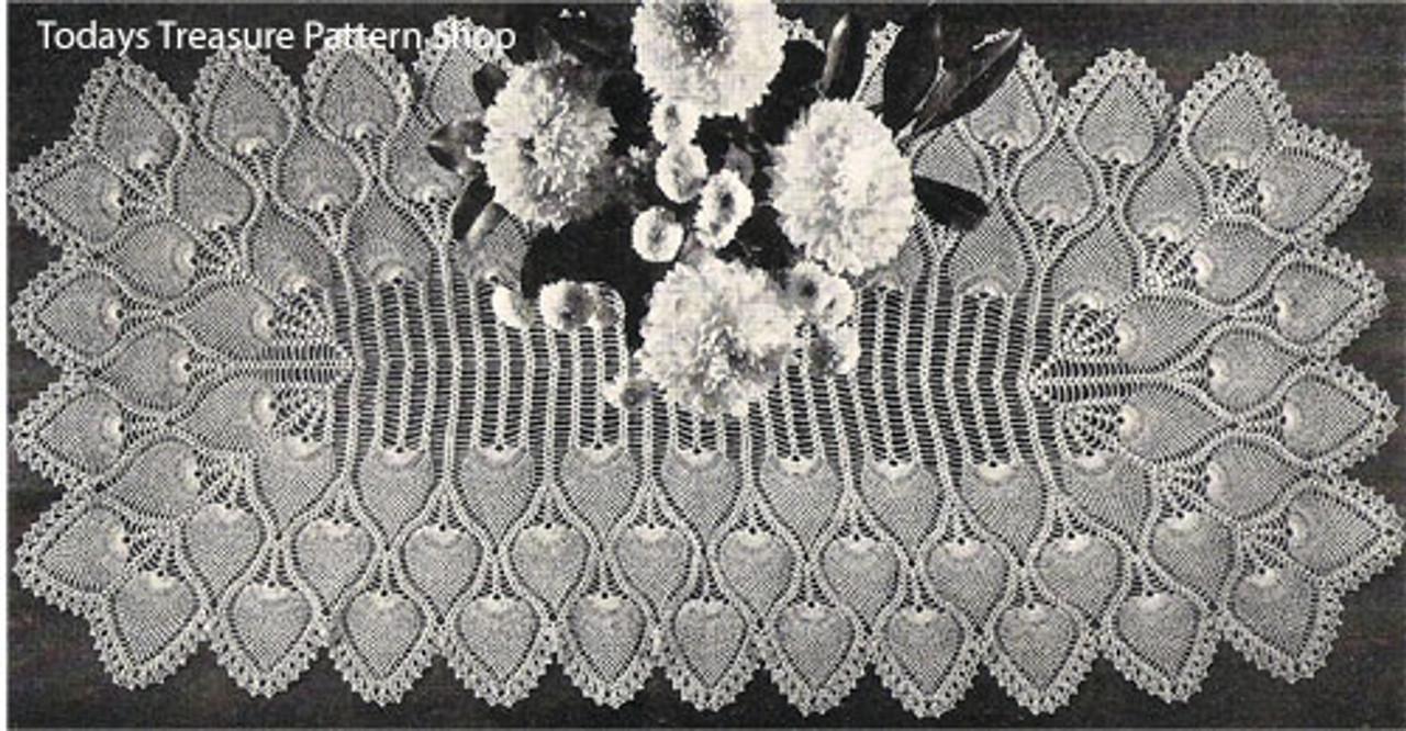 Vintage Pineapple Crochet Runner Pattern