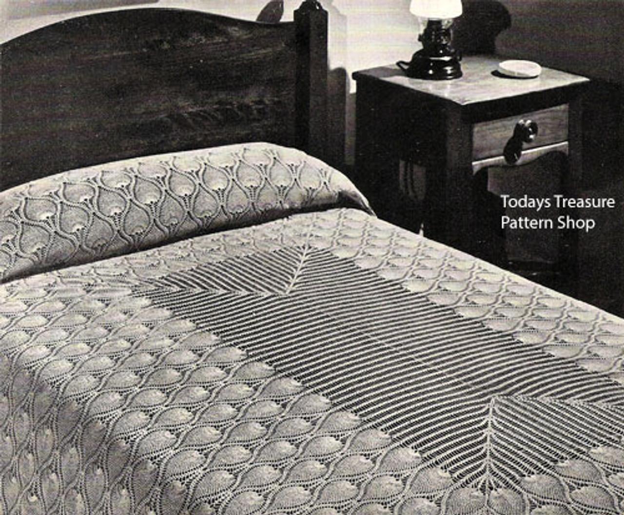 Vintage Pineapple Crocheted Bedspread Pattern