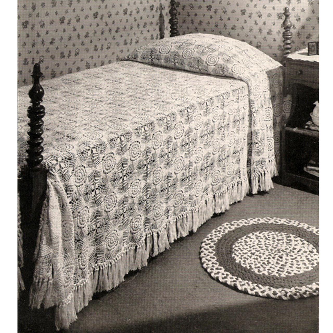 Vintage Snow White Crochet Bedspread Pattern