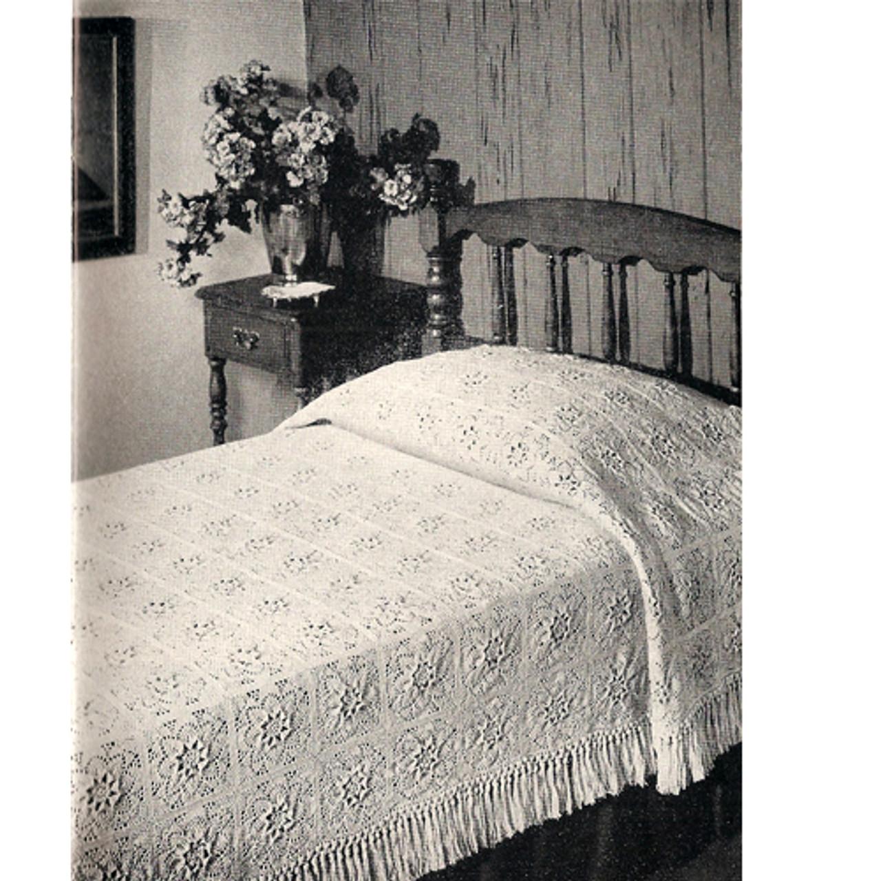 Crocheted Puritan Bedspread Pattern from American Thread