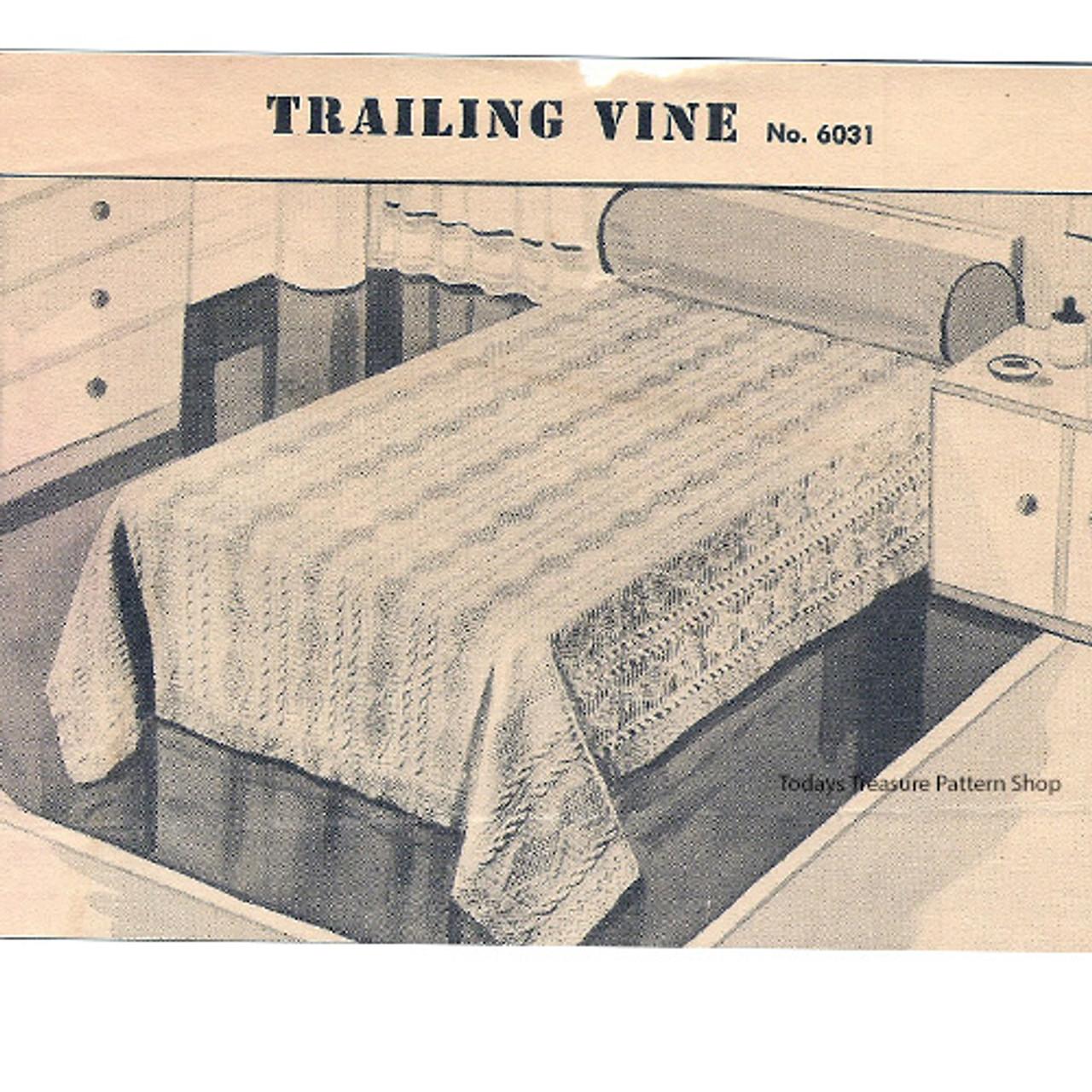 Knitted Trailing Vine Bedspread Pattern