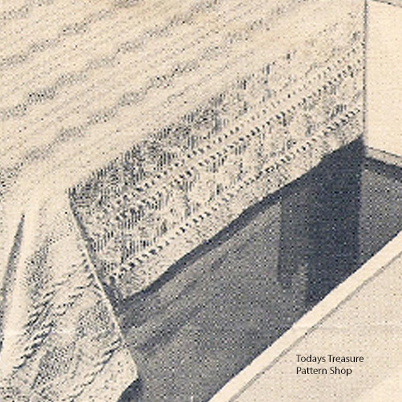 Vintage Knitting Pattern for Trailing Vine Bedspread