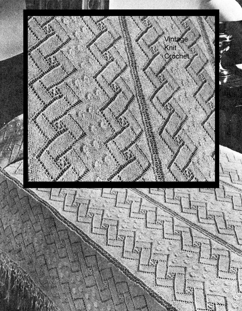 Knitted Bedspread Pattern No 6130