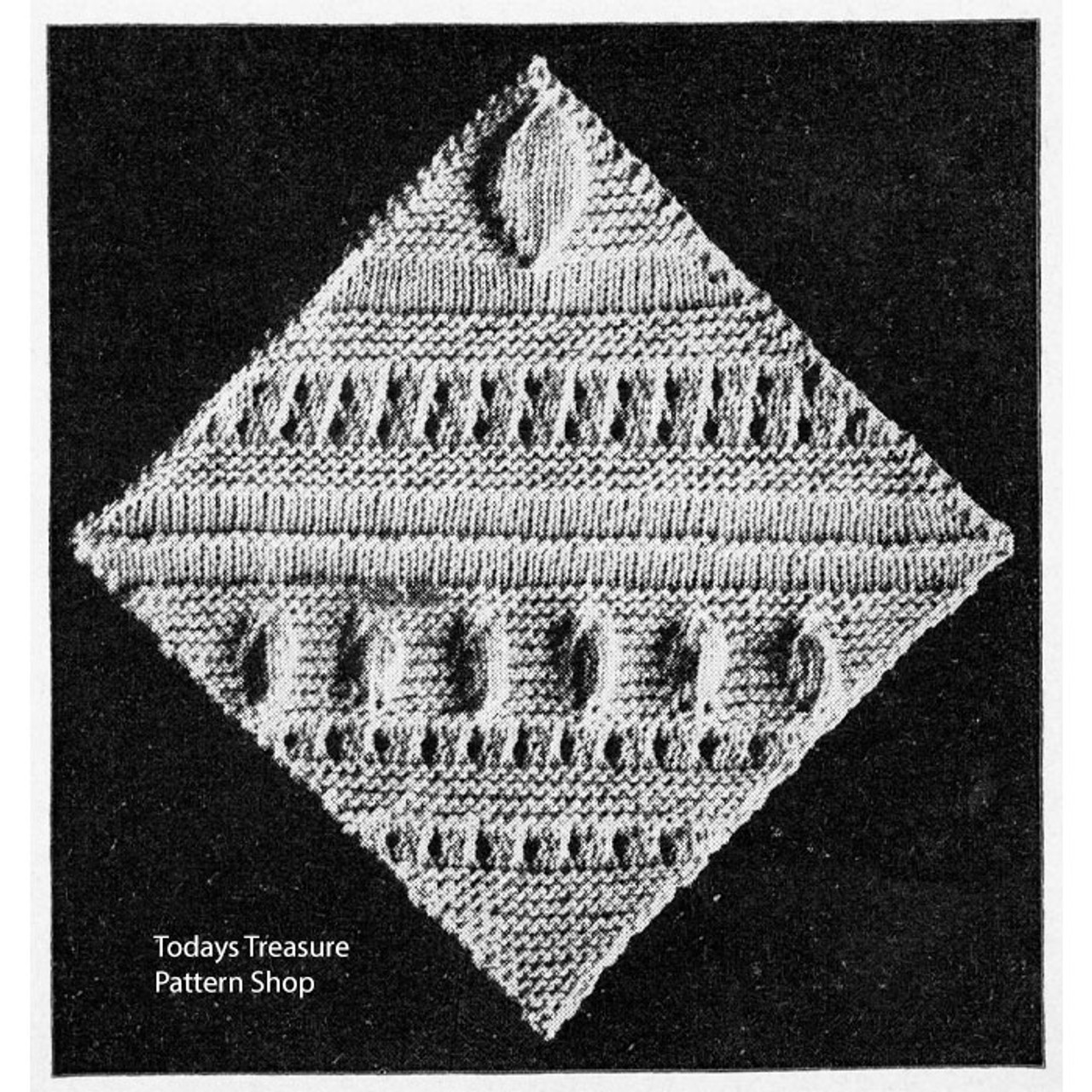 Knitted Pennsylvania Dutch Medallion Pattern