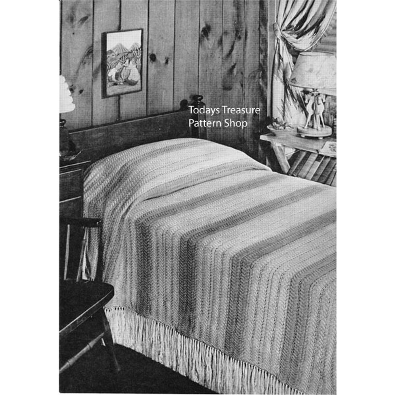 Striped Bedspread Knitting pattern