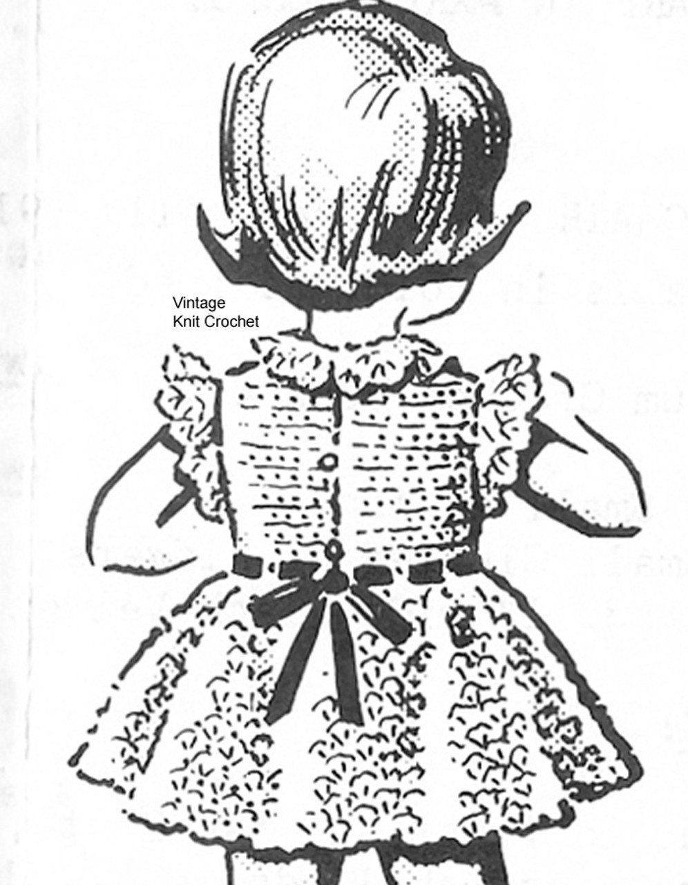 Back View Girls Crocheted Dress Pattern