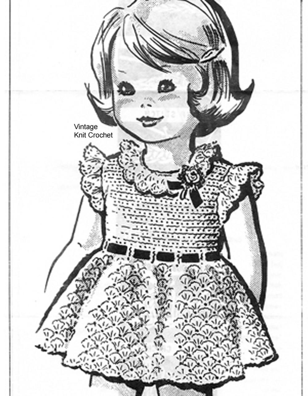 Anne Cabot Childs Crochet Dress Pattern No 5319