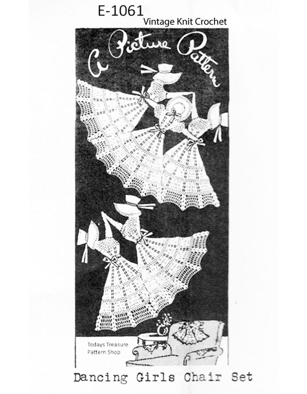 Vintage Crochet Dancing Girls Pattern, Mail Order E-1061