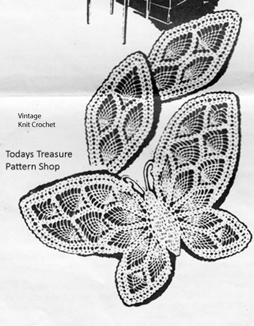Vintage Butterfly Doily Pattern, Alice Brooks 7009