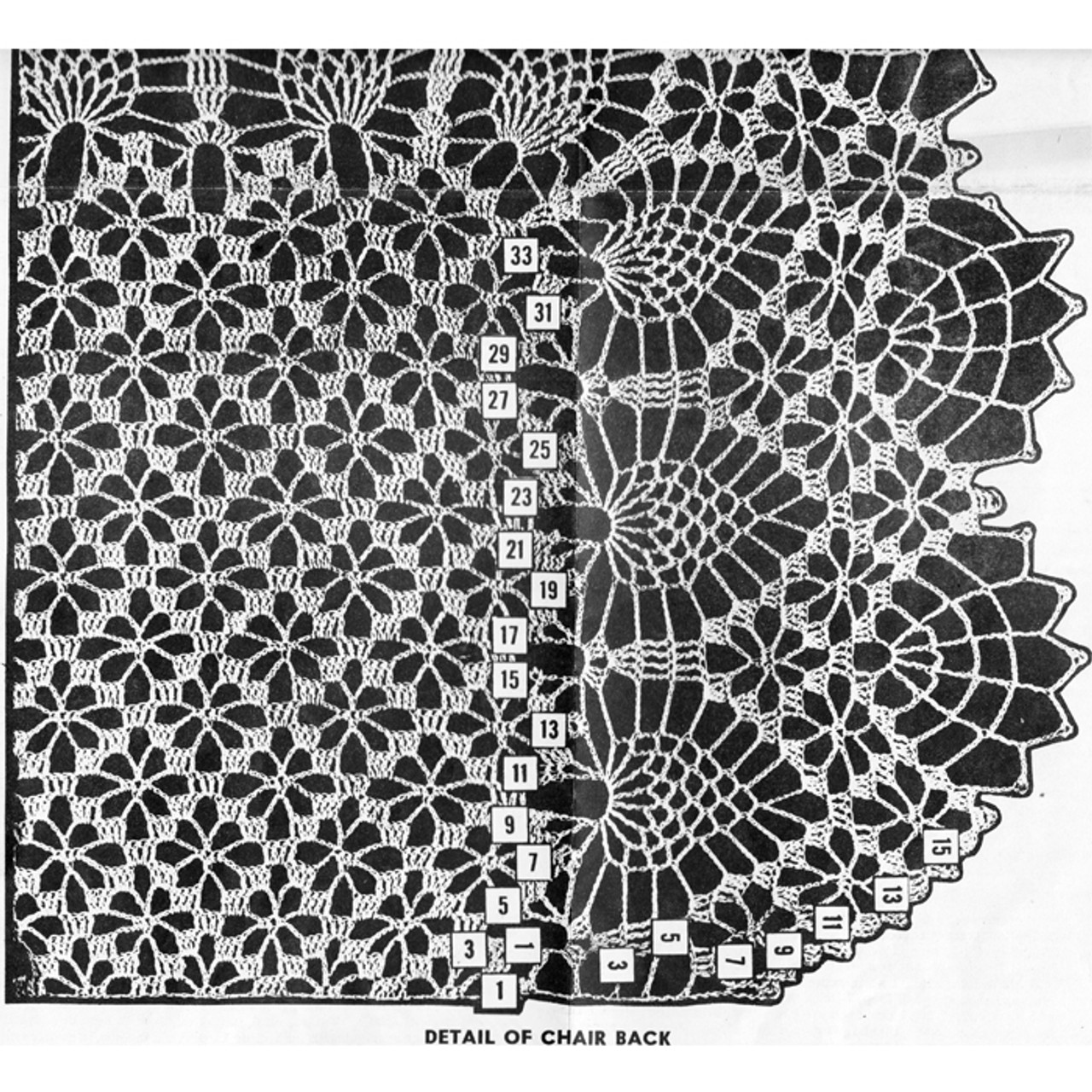 Chair Back Pineapple Mesh Pattern Detail