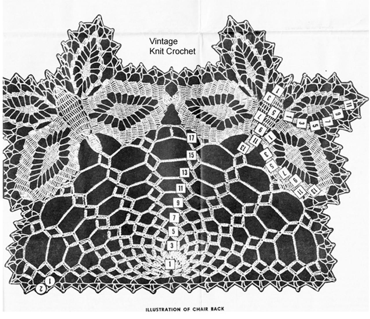 Crochet Butterfly Pattern Stitch Illustration