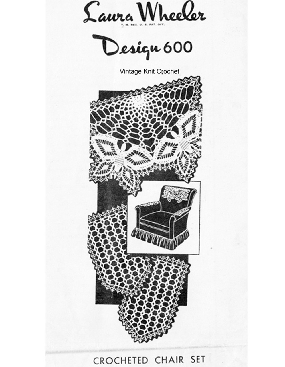 Butterfly Chair Set Pattern, Mail Order 600