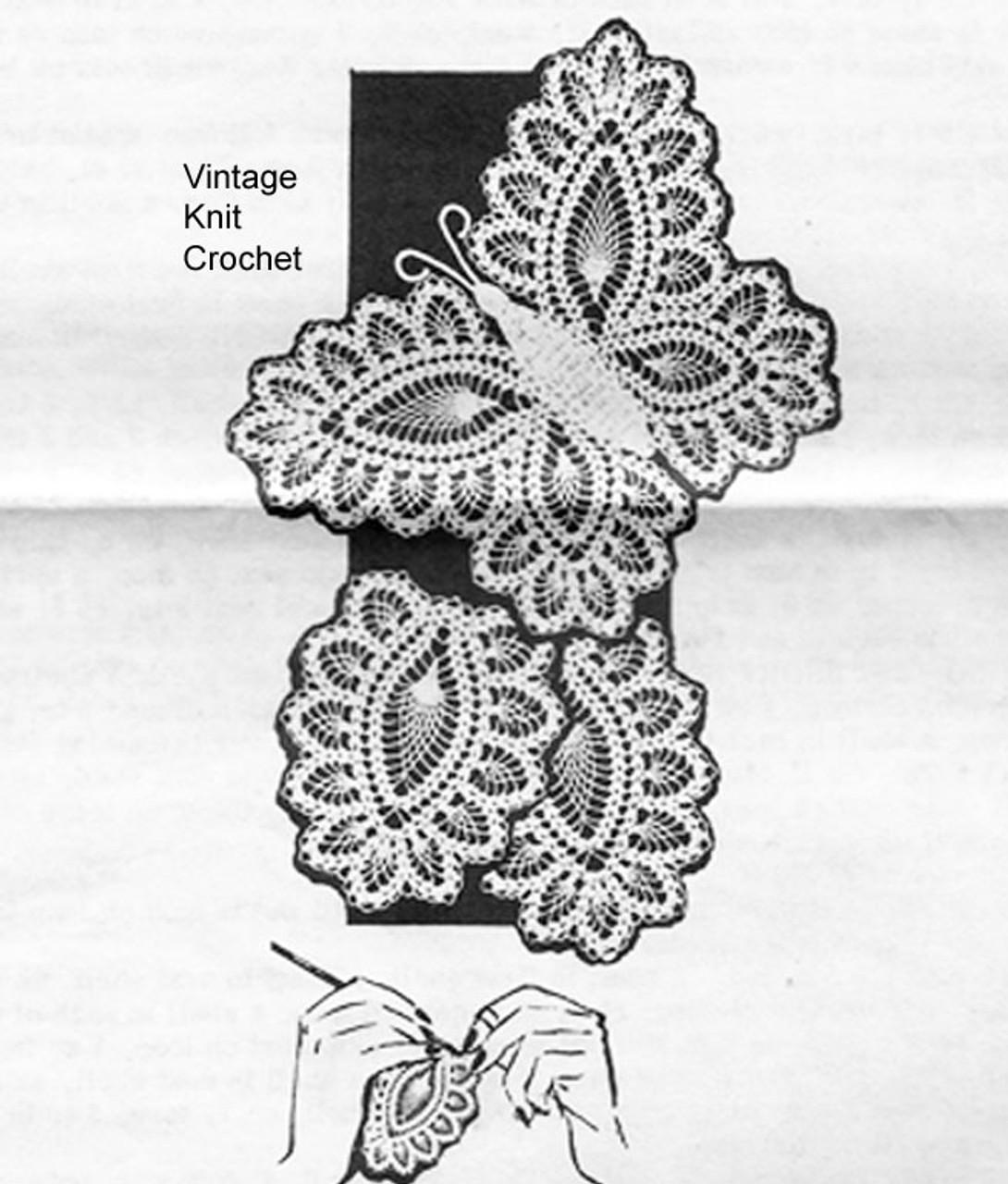 Mail Order Crochet Butterfly Chair Set Pattern Design 7111