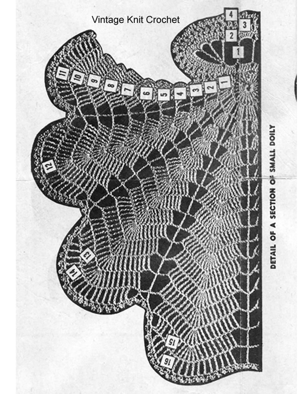 Vintage Shell Crochet Doily Illustration