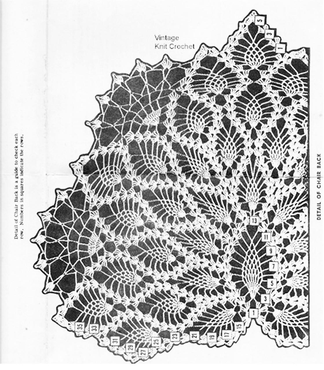 Pineapple Chair Set Pattern Stitch Illustration for Design 891