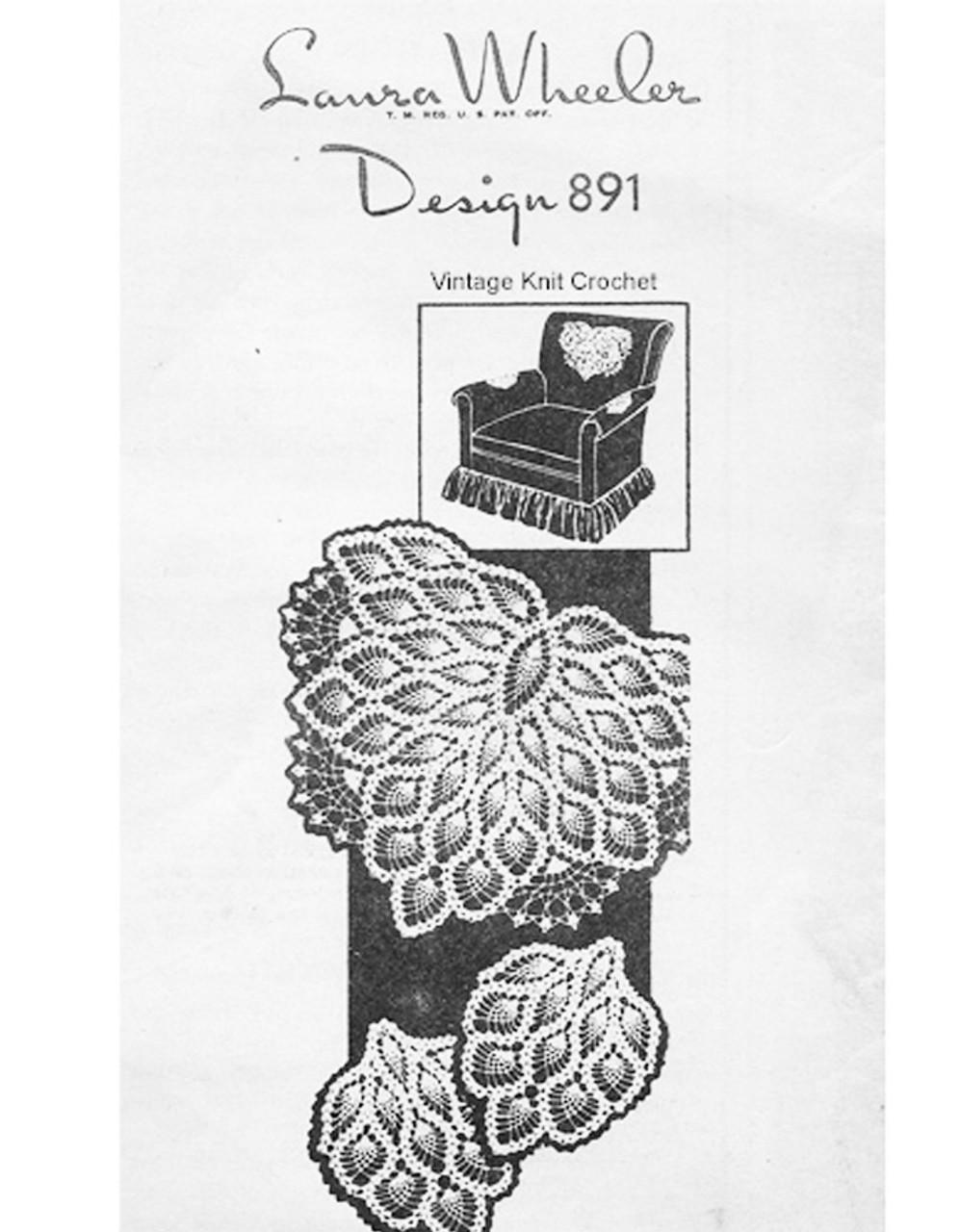 Pineapple Crochet Chair Set Pattern Mail Order 891