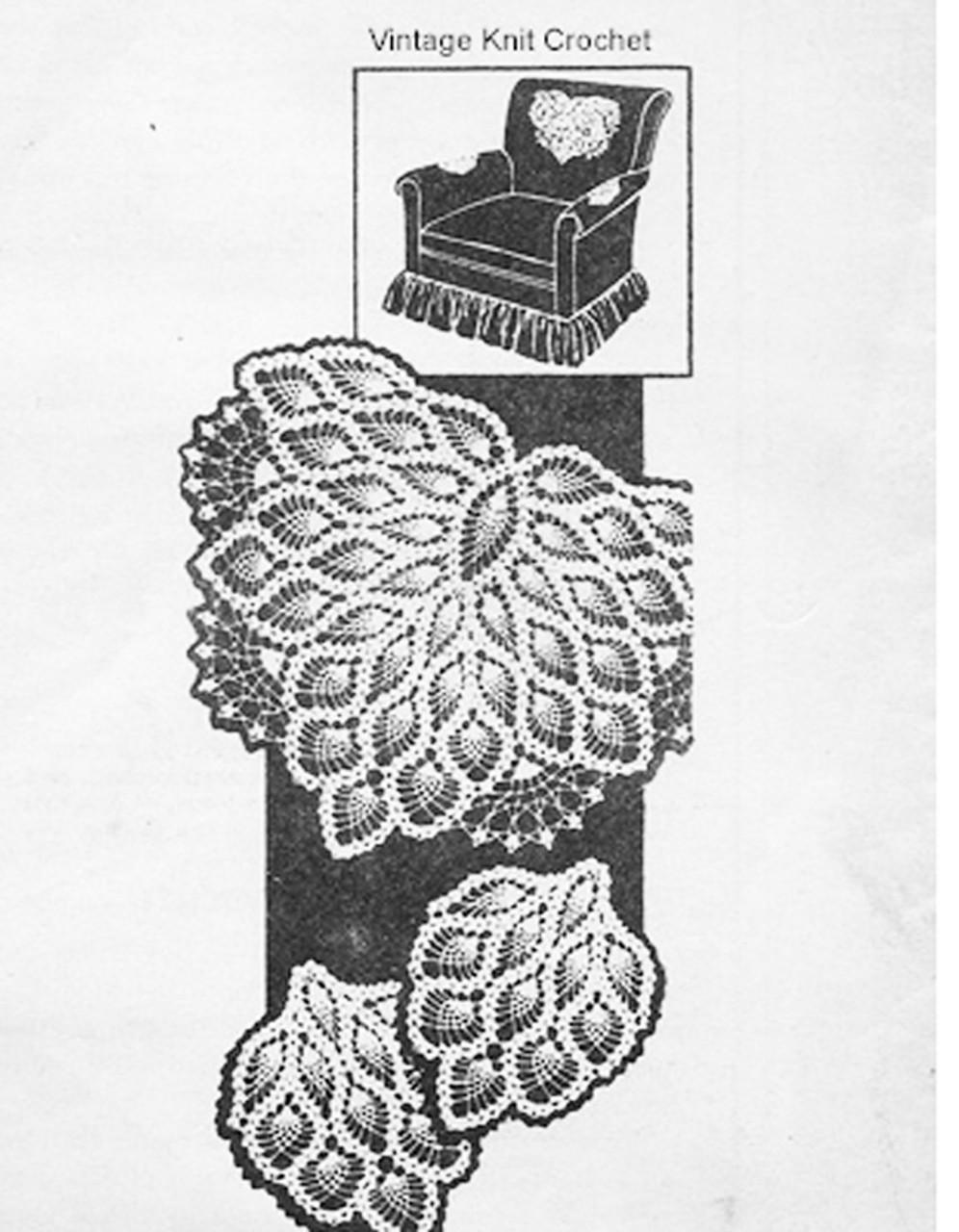 Mail Order Crochet chair set pattern, Laura Wheeler 891
