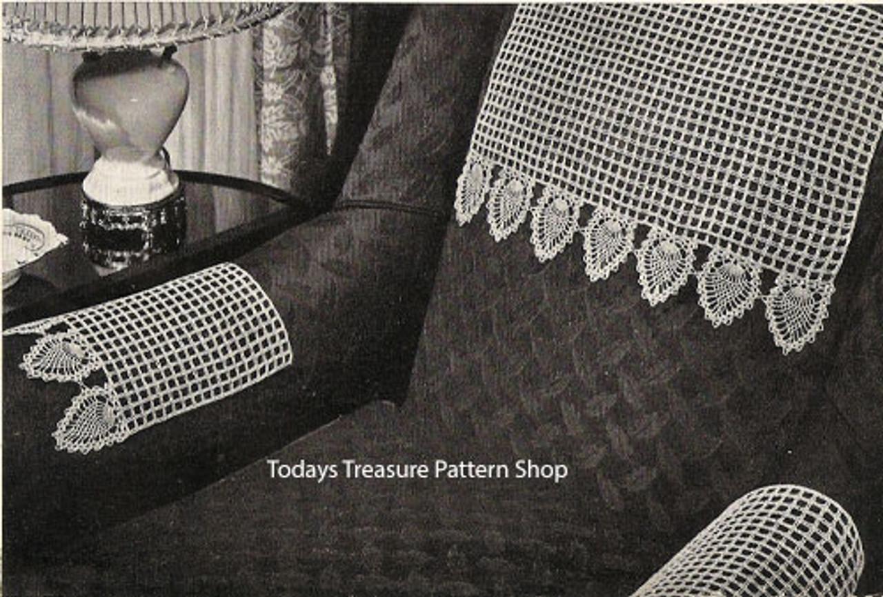 Crochet Honeycomb Chair Set Pattern