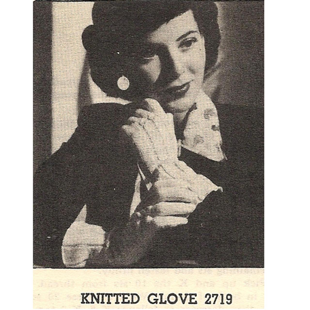 Free Vintage Gloves Knitting Pattern