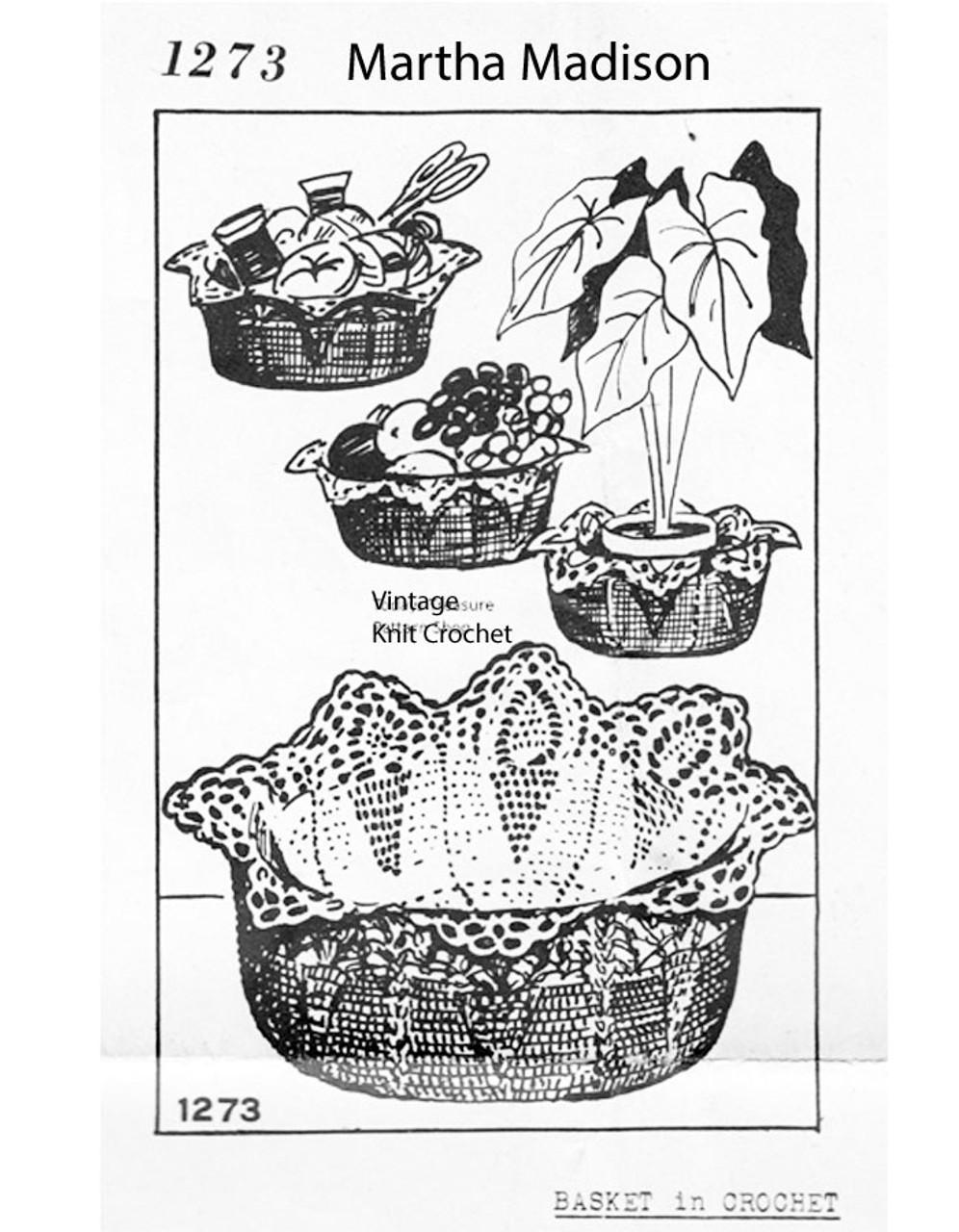 Crochet Pineapple Bowl Pattern, Mail Order 1273