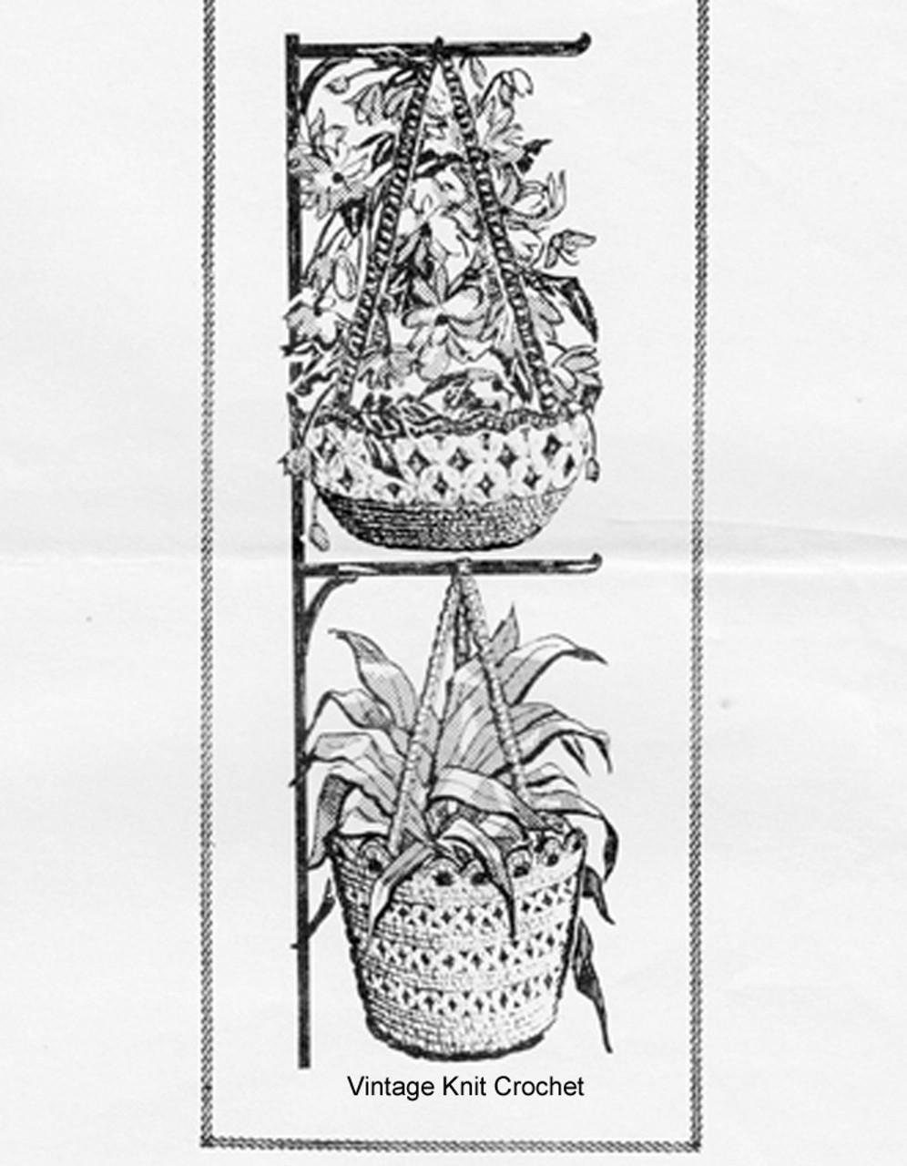 Mail Order Crochet Baskets Pattern, Laura Wheeler 717