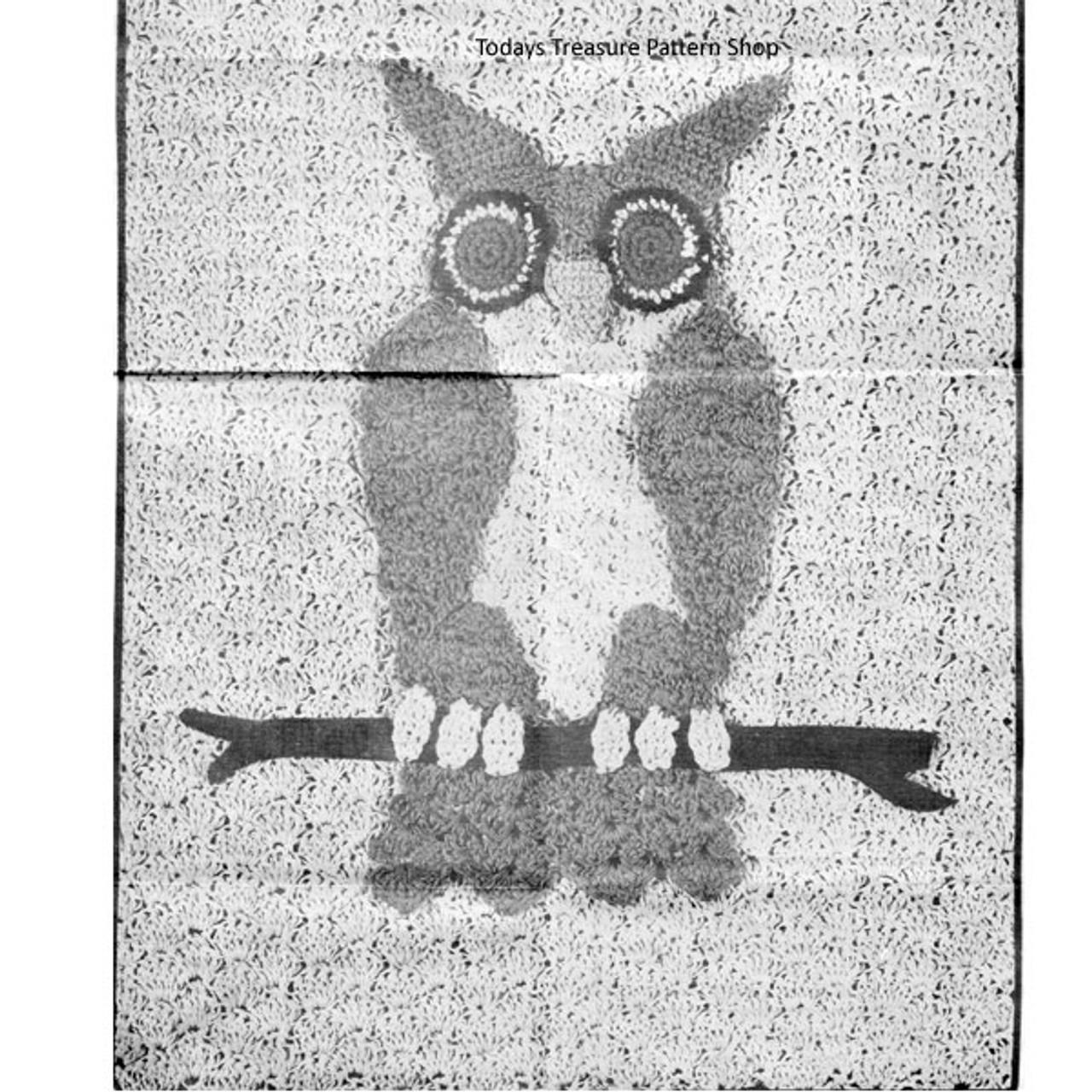 Crocheted Owl Pillow Illustration